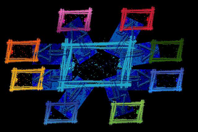 Bild mit vernetzten Rechtecken